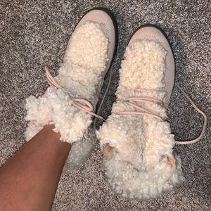Vionic Fur Ankle Boots
